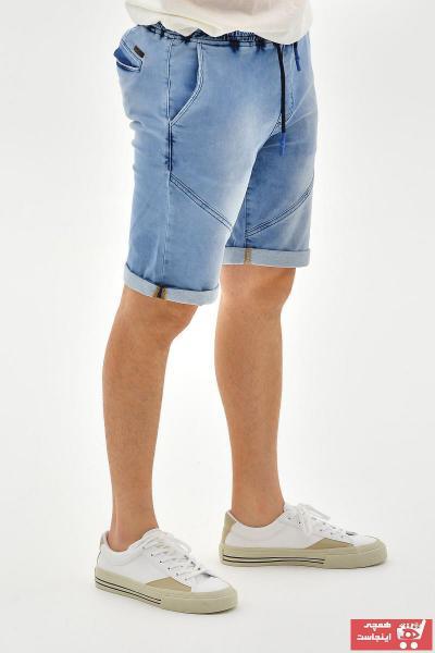 شلوارک مردانه ارزان قیمت برند Super Eight رنگ آبی کد ty100107934