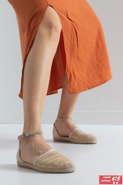 کفش تخت دخترانه طرح دار برند Park Moda رنگ خاکی کد ty100241900