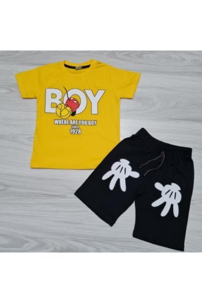 ست لباس پسرانه ترک برند DISNEY رنگ زرد ty100386546