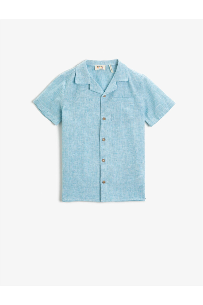 فروش پستی پیراهن پسرانه شیک جدید برند کوتون رنگ آبی کد ty101062250