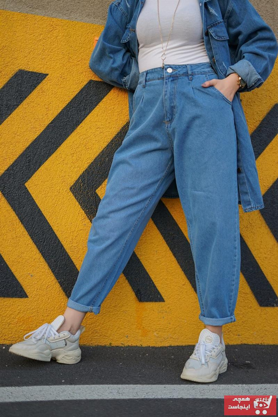 فروش پستی شلوار زنانه ترک برند lurex moda رنگ آبی کد ty102862745