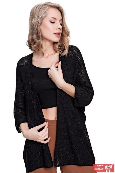 خرید غیر حضوری ژاکت بافتی از ترکیه برند butikburuç رنگ مشکی کد ty103756882