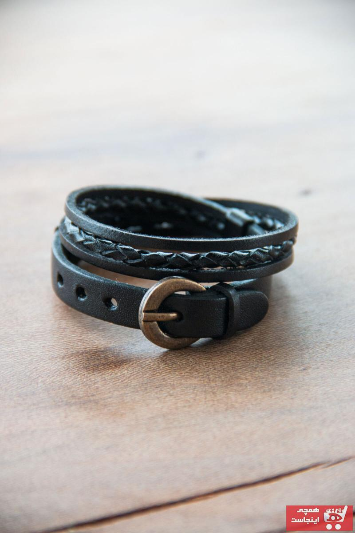 خرید نقدی دستبند ارزان مردانه برند naft رنگ مشکی کد ty104399292