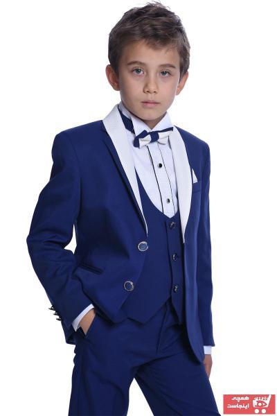 سفارش پستی لباس مجلسی پسرانه برند ceocuk رنگ آبی کد ty104579700