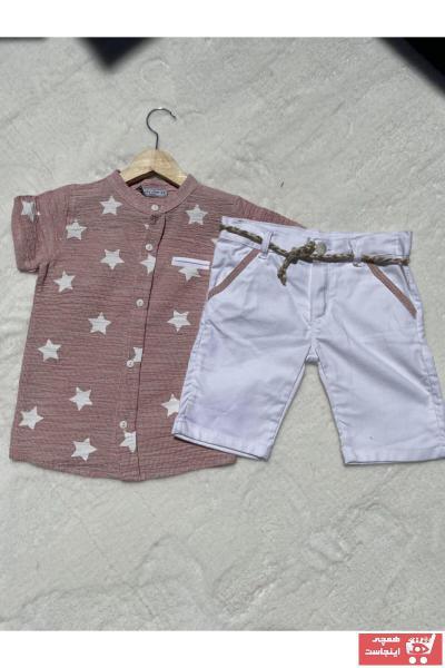 ست لباس پسرانه قیمت مناسب برند Junior Class رنگ صورتی ty105039157