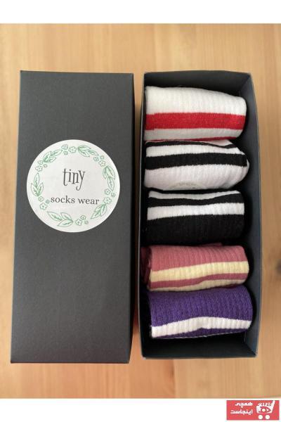 جوراب مدل 2021 برند tinysockswear رنگ مشکی کد ty106199717