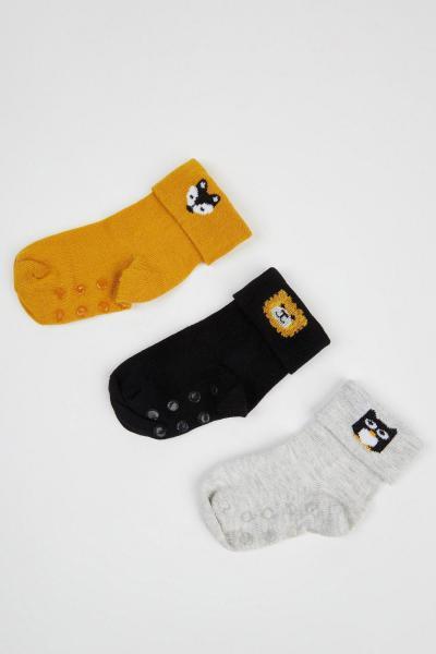 جوراب بچه گانه پسرانه ارزان برند دفاکتو رنگ زرد ty106868271