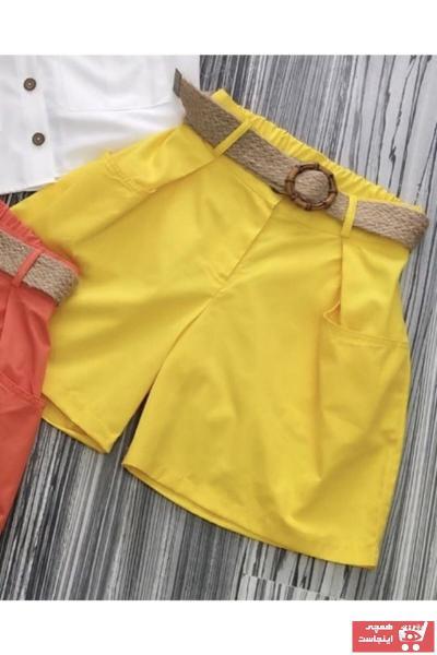 خرید نقدی شورتک دخترانه برند SUME رنگ زرد ty107202939