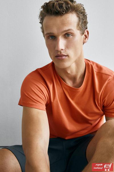تی شرت مردانه مدل برند Massimo Dutti رنگ نارنجی کد ty107214528