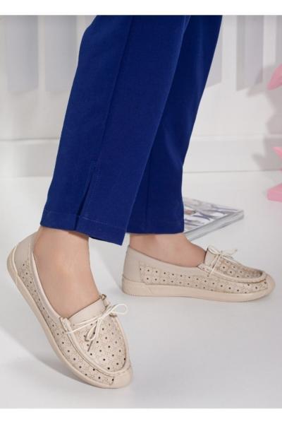 کفش تخت دخترانه مارک برند MODAstr رنگ بژ کد ty108103859