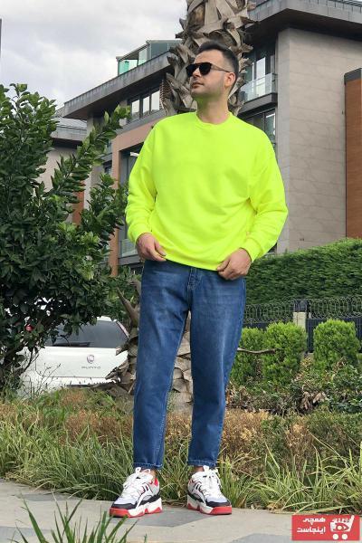 خرید انلاین سویشرت مردانه ترکیه برند THE OVERSIZE رنگ زرد ty108114538