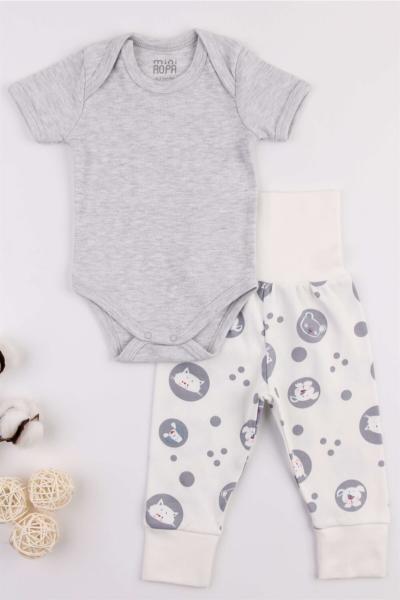 خرید اینترنتی ست لباس نوزاد پسرانه فانتزی برند Mini Ropa رنگ نقره ای کد ty108160066
