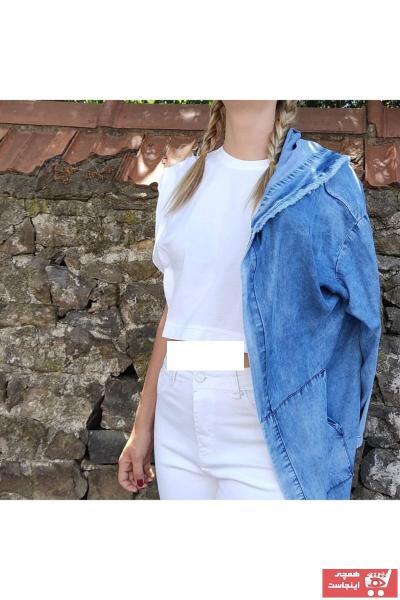 ژاکت زنانه مارک برند Luliana رنگ آبی کد ty108878223
