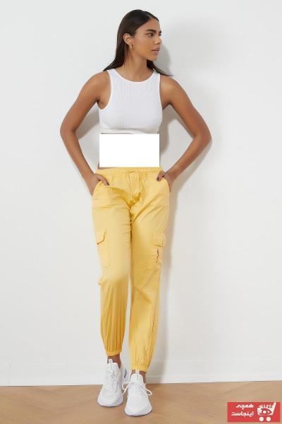 شلوار جدید زنانه شیک برند تونی بلک اورجینال رنگ زرد ty108887903