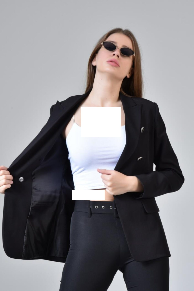 ژاکت زنانه اینترنتی برند YML رنگ مشکی کد ty108932233