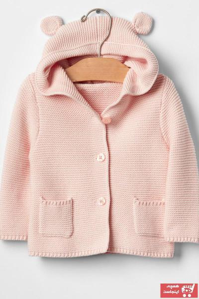 فروش سویشرت نوزاد دخترانه شیک و جدید برند GAP رنگ قهوه ای کد ty28621559