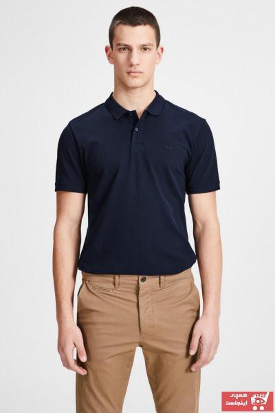خرید اینترنتی پولوشرت مردانه از استانبول برند جک اند جونز رنگ لاجوردی کد ty2902053