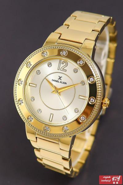 خرید انلاین ساعت مچی زنانه  ارزان برند Daniel Klein رنگ طلایی ty32662173