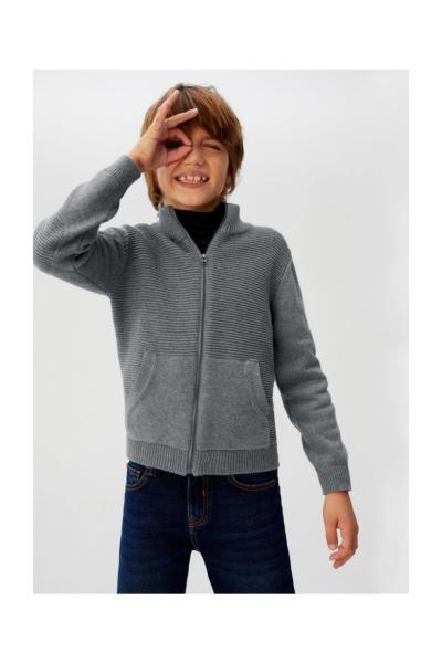 فروش سویشرت بچه گانه برند منگو رنگ نقره ای کد ty33369866