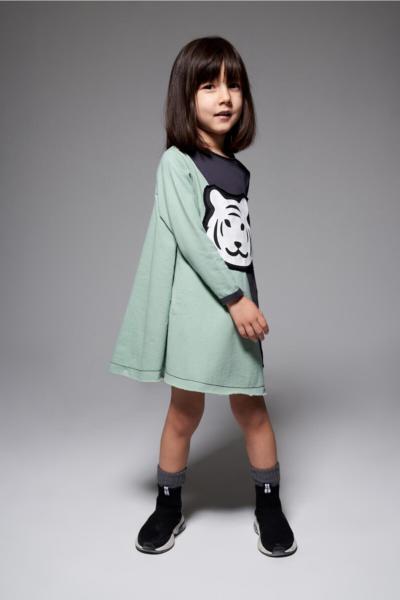 پیراهن دخترانه مجلسی برند MonoKido رنگ سبز کد ty34751163