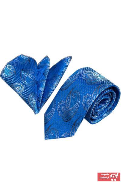 کراوات مردانه جدید برند Exve Exclusive رنگ آبی کد ty35193719