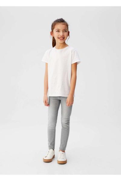 فروش شلوار لی بچه گانه دخترانه ارزانی برند مانگو رنگ نقره ای کد ty35695918