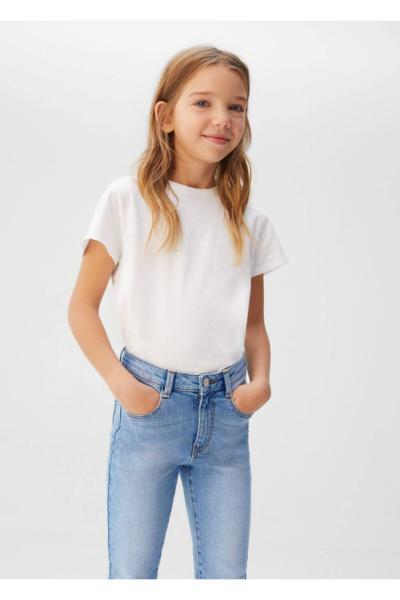 خرید نقدی شلوار جین ارزان بچه گانه دخترانه برند منگو رنگ لاجوردی کد ty35695923