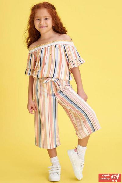 خرید انلاین شلوار دخترانه طرح دار مارک دفاکتو رنگ بژ کد ty36395978