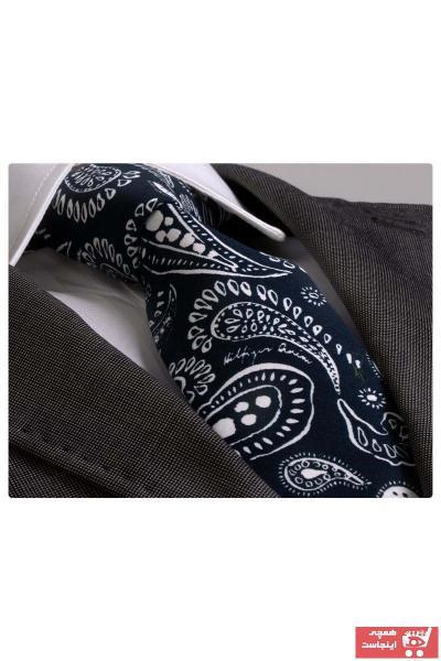 کراوات مردانه مدل دار برند Exve Exclusive رنگ لاجوردی کد ty37251505