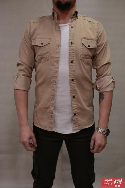 پیراهن مردانه ارزان برند YXC رنگ بژ کد ty37511056