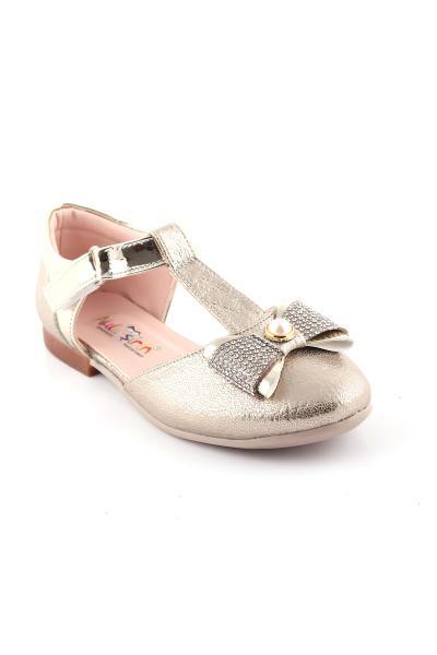 فروش کفش تخت بچه گانه دخترانه خفن برند Akıllı Şirin رنگ طلایی ty38908346