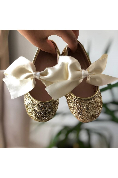 کفش تخت بچه گانه دخترانه حراجی برند MELODY رنگ طلایی ty39250140