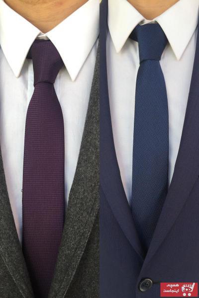 کراوات مردانه زمستانی شیک برند Kravatistan رنگ بنفش کد ty40664701