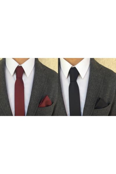 کراوات مردانه  برند Kravatistan رنگ زرشکی ty40728652