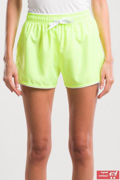 خرید اینترنتی شلوارک ورزشی مردانه جدید برند اسلازنگر رنگ زرد ty41122850