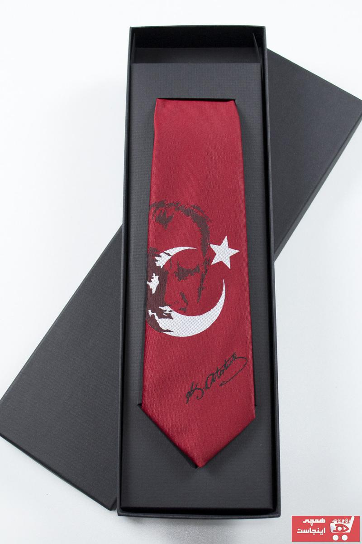 کراوات مردانه جدید برند Gaffy رنگ قرمز ty43205725