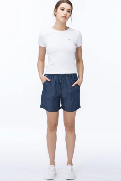 خرید پستی شلوارک ورزشی زیبا برند لاگوست رنگ لاجوردی کد ty4590280
