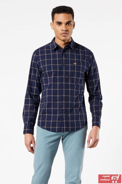 خرید انلاین پیراهن برند Dockers رنگ لاجوردی کد ty48898641
