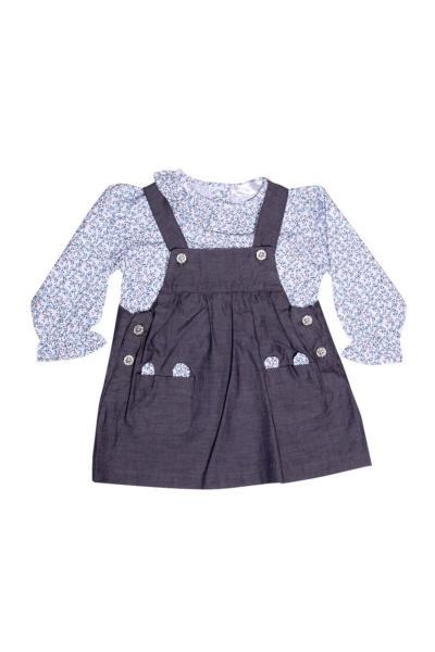 خرید لباس مجلسی نوزاد دخترانه شیک برند Luggi رنگ لاجوردی کد ty49629077
