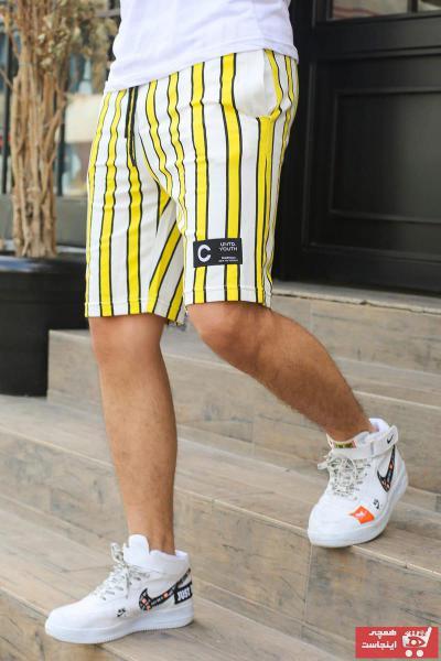 خرید انلاین شلوارک طرح دار مارک مدمکس رنگ زرد ty5045705