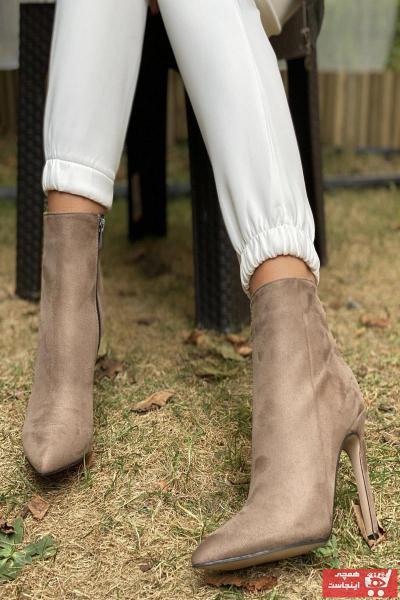 نیم بوت زیبا برند İnan Ayakkabı رنگ قهوه ای کد ty50782955