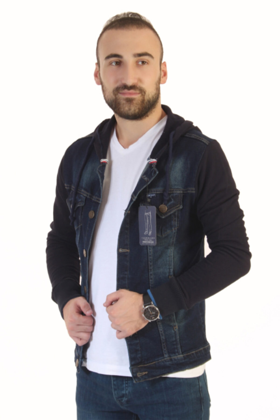 ژاکت مردانه فروش برند Ecarte Jeans رنگ لاجوردی کد ty51938983