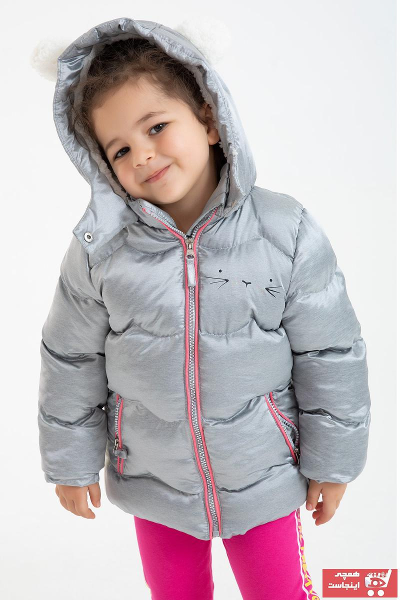 کاپشن دخترانه مدل دار برند ALYAKİDS رنگ نقره ای کد ty56916386