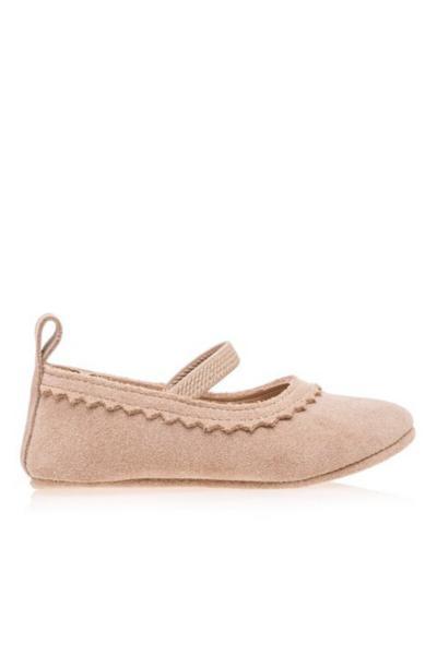 کفش تخت نوزاد دختر ارزان قیمت برند Merli&Rose رنگ بژ کد ty57239780