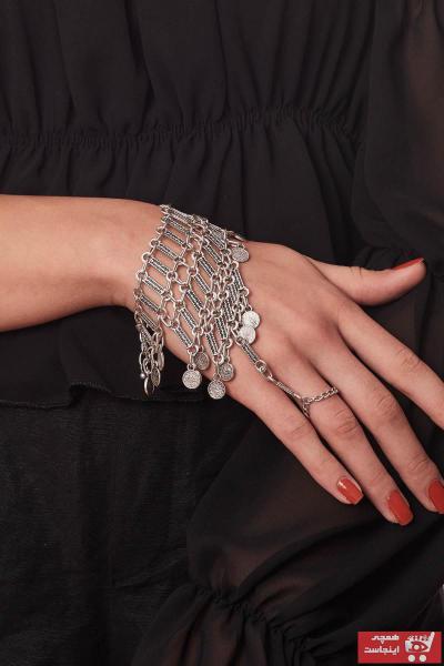 فروش اینترنتی دستبند انگشتی زنانه با قیمت برند ZeyDor Accessories رنگ نقره ای کد ty59340626