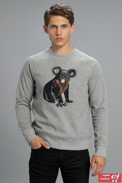 خرید سویشرت 2020 مردانه برند Lufian رنگ نقره ای کد ty62350197