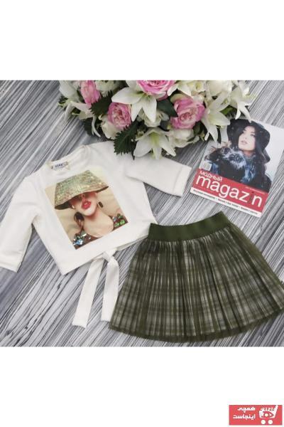 فروش دامن دخترانه شیک و جدید برند SUME رنگ سبز کد ty65394878