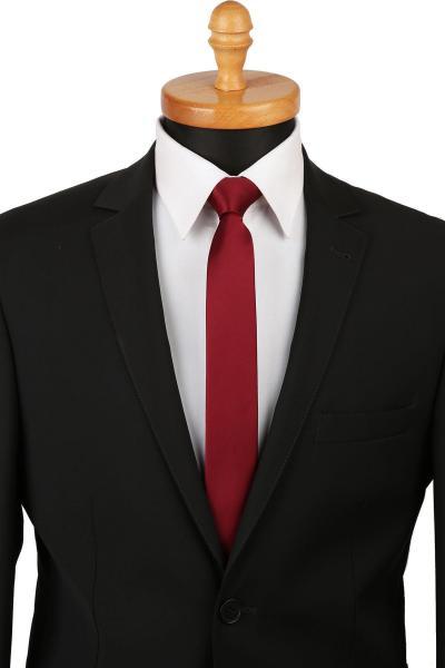کراوات مردانه اورجینال شیک برند La Pescara رنگ زرشکی ty6596130