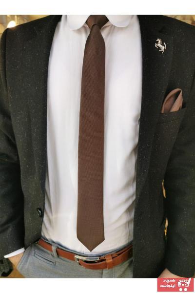 کراوات مردانه طرح دار برند CROATE رنگ قهوه ای کد ty66781672