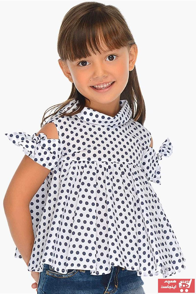 شومیز نوزاد دختر برند MAYORAL رنگ لاجوردی کد ty6683069